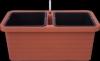 Truhlík samozavlažovací BERBERIS DUO Terakota 80cm